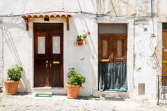 Two entrance doors in Lisbon Stock Images