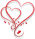 Two Entwined Hearts Stock Photo