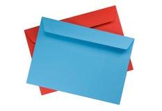 Two envelopes isolated on white Royalty Free Stock Photos