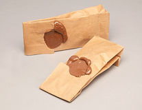 Two Envelopes. With wax seals Royalty Free Stock Photo
