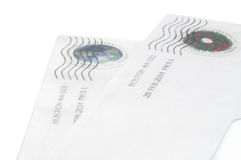 Two envelopes. Stock Images