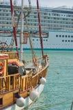 Two eras in shipbuilding Stock Photo