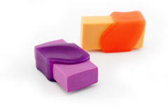 Two erasers Stock Photo