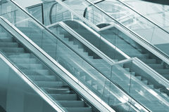 Two escalators royalty free stock photo