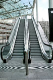Two escalators Stock Images