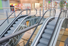 Two escalators in trade center Stock Photography