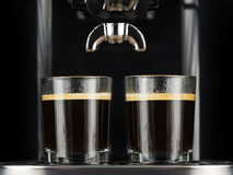 Two espressos Stock Photos
