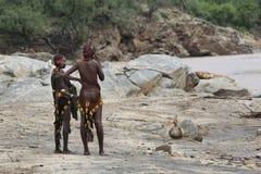 Two Ethiopian girls. Royalty Free Stock Photos