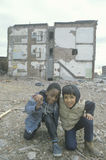 Two ethnic boys in the ghetto Stock Photos