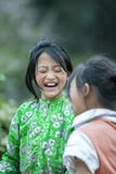 Two Ethnic minority children at Lung Cam village Royalty Free Stock Photos