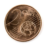 Two Euro cents coin isolated Stock Photo