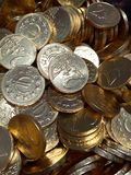 Two Euro Chocolate Coins Stock Photo