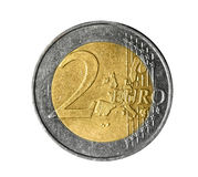 Two euro coin stock images