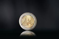 Two euro coin Royalty Free Stock Photography