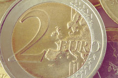 Two euro coin Royalty Free Stock Images