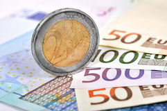 Two Euro coin Stock Image