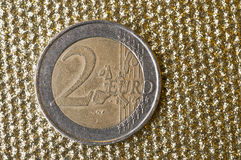 Two euro coin Royalty Free Stock Photo