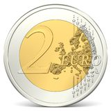 Two euro coin. In front view Stock Photo