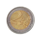 Two euro coin isolated Royalty Free Stock Photos