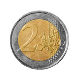Two euro coin isolated on white background Stock Photo