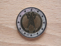 Two Euro coin money Royalty Free Stock Photography
