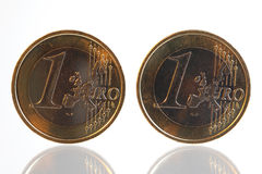 Two euro coins Royalty Free Stock Image