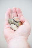 Two euro coins Royalty Free Stock Photos