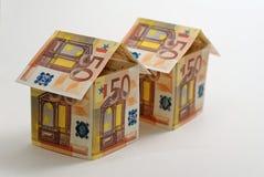 Two 50 euro Houses Royalty Free Stock Photo
