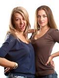 Two European Women Royalty Free Stock Photos