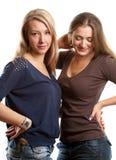 Two European Women Stock Photo