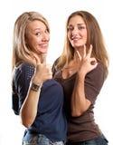 Two European Women Royalty Free Stock Image