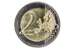 Two Euros Coin Royalty Free Stock Photography