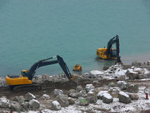 Two excavator. Stock Image