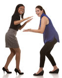 Two excited business women Royalty Free Stock Images