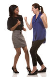 Two excited business women Stock Photos