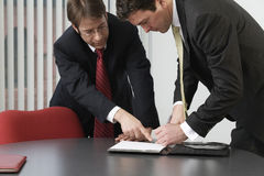 Two executives meetig and discussing Stock Photo