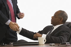 Two executives shaking hands Royalty Free Stock Images
