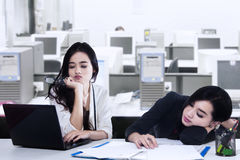 Two Exhausted Businesswoman Royalty Free Stock Photography