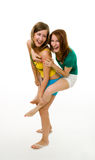 Two exited women Stock Image