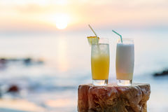 Two exotic cocktails Royalty Free Stock Photography