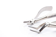 Two extraction forceps on white background Royalty Free Stock Image