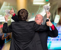 Two exulting businessmen Stock Photo