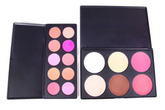 Two eye shadows palettes Stock Photography