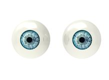 Two eyeballs isolated on white Royalty Free Stock Photography