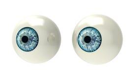 Two eyeballs isolated on white. Back ground Royalty Free Stock Photos