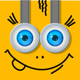 Two eyes. Cartoon. A typical character. Stock Photography