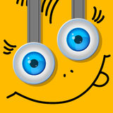 Two eyes. Cartoon. A typical character. Stock Photo