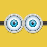 Two eyes glasses or goggles. Vector illustration Royalty Free Stock Images