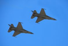 Free Two F-16 Jet Fighters Royalty Free Stock Images - 2446489