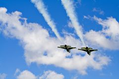 Two F16 Jets Royalty Free Stock Photography